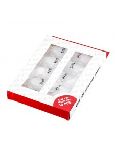 Clips for removing gel varnish (for manicure), 10pcs