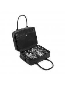 Bag for makeup artist Kodi professional (color: black with a flower pattern)
