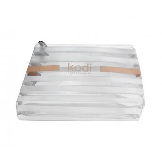"Photo - Cosmetic bag ""Zebra"" large transparent in a white strip (size: 24 * 14 * 6.5), KODI from KODI PROFESSIONAL"