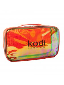 Kodi Make-Up Cosmetic Bag No.11 (nylon; color: dark orange, rainbow), KODI