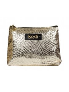Gold cosmetic bag large (size: 25 * 18 * 3)