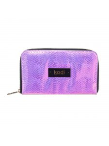 Case for brushes with zipper number 3, color: silver-purple, KODI