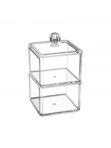 Cosmetic transparent organizer (two-tier square)