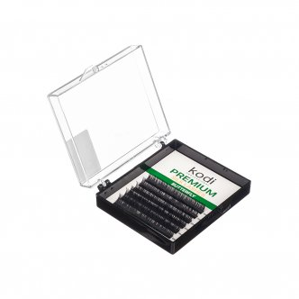 Photo -  Eyelashes D 0.10 (6 strips: 8/9/10 mm), Butterfly Green, KODI from KODI PROFESSIONAL