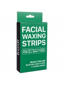 Facial Waxing Strips (10 double-sided strips + 2 finishing wipes)