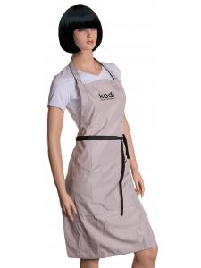 Apron Kodi professional beige with black logo (long), KODI