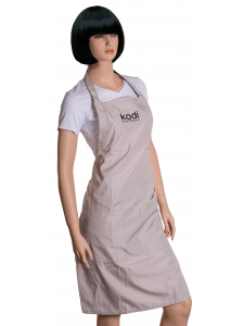 Apron Kodi professional beige with black logo (long)