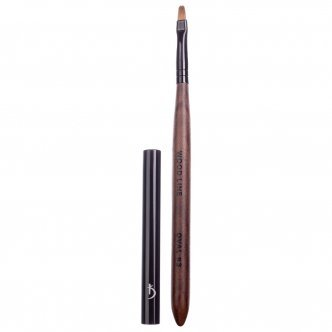 Photo - Brush for gel nail modeling Oval No. 3 (Handle: Brown, Pile: Nylon) , KODI from KODI PROFESSIONAL