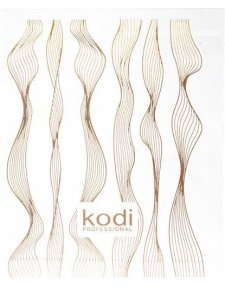 Sticker for 3D nail design in assortment color (gold), KODI