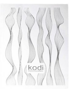 Sticker for 3D nail design in assortment color (silver), KODI