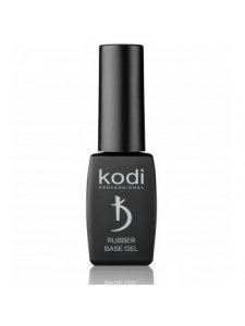 Rubber Base Gel Black - Black rubber base (base) for gel polish, 8ml., KODI