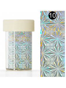Nail art foil in a jar (4*110 cm) №10, KODI