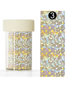 Nail art foil in a jar (4*110 cm) №3, KODI