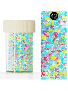 Nail art foil  in a jar (4*110 cm) №42