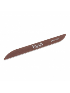 "Nail file ""Boomerang"" 240/240 (color: brown, size: 178/20/2), KODI"