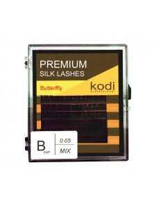 Eyelashes B 0.05 (6 rows: 11/12/13 mm), packaging -  Butterfly, KODI
