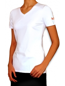 Branded T-shirt Kodi (logo color: orange). Size L