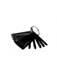 Set of Oval-Shaped 50 Tips (Black), KODI
